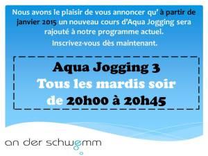 Affiche - aqua Jogging 3